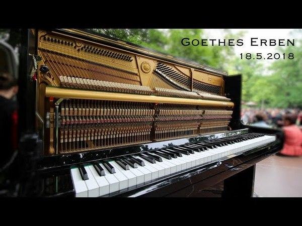 Goethes Erben im Clara-Zetkin-Park am 18.05.2018. in Leipzig.
