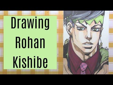 Drawing Rohan Kishibe from Jojo's Bizarre Adventure: Diamond is Unbreakable!