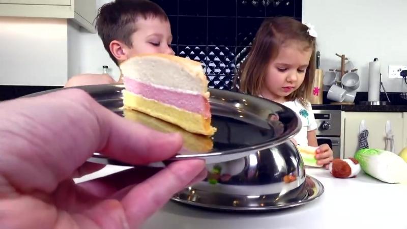 SQUISHY FOOD 2 ПРОТИВ настоящая ЕДА ЧЕЛЛЕНДЖ _ REAL FOOD vs squishy toys CHALLEN
