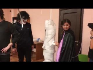 Halloween 2017 at Premium English School Kazan. The mummy wrap game