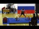 Татьяна Королева, тяга 160 на Чемпионате Удмуртии 2011 года