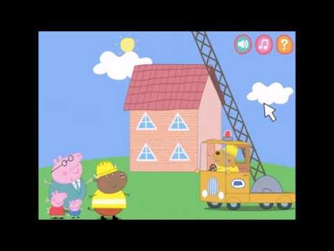 Игры Свинки Пеппы Папа Свин Строим дом ◄ Игры для детей Game Peppa Pigs