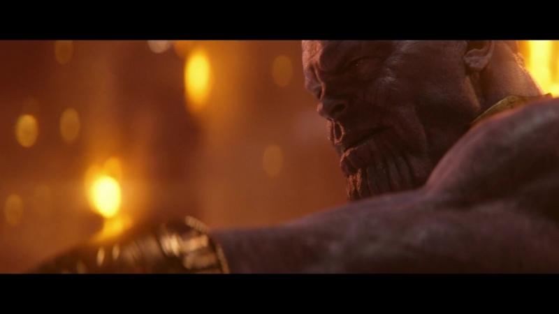 Мстители Война бесконечности Танос покидает Забвение с Гаморой и камнем реальности