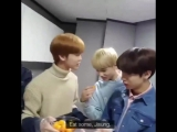 jaemin was about to snap at jisung for eating his ingredients but eventually gave in, letting jisung eat, resulting in jaemin's