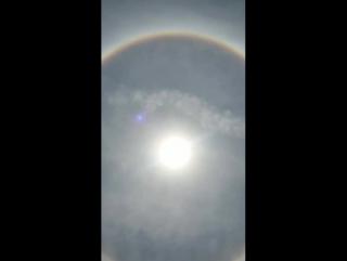 Сегодня Диди прислала видео круглой радуги Брахма Дхануш