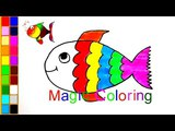 How to Draw a Fish Coloring Pages Rainbow Fish for Kids