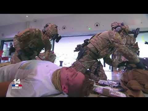 French Special Forces demo D mo des Forces Sp ciales 1er RPIMa et 4e RHFS 14 juillet 2018