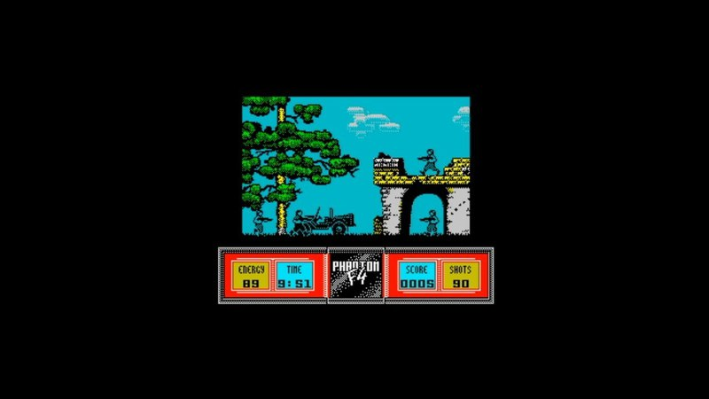 Phantom F4 (1992) 128k AY music version Walkthrough Review, ZX Spectrum