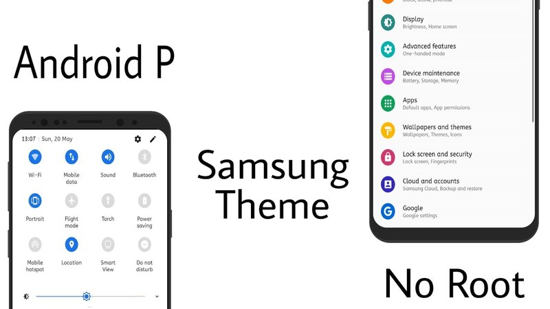 Android P Beta Preview Samsung Theme NougatOreo No Root
