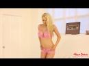 Alexa Grace striptease in sexy pink lingerie