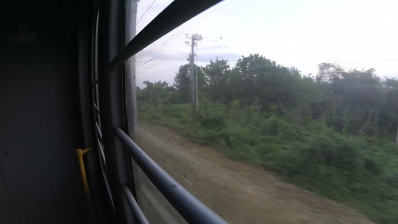 Перегон о.п.Белая Гора―о.п.Зеленая Поляна в вагоне электропоезда ЭД4М-0166