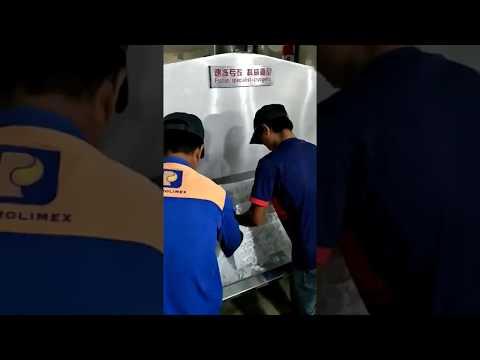 Vietnam seafood processor using our cryogenic freezer for shrimp