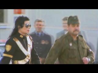 Майкл Джексон марширует с российскими солдатами... 1993 год