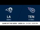 NFL 2017 / W16 / Los Angeles Rams - Tennessee Titans / CG / EN