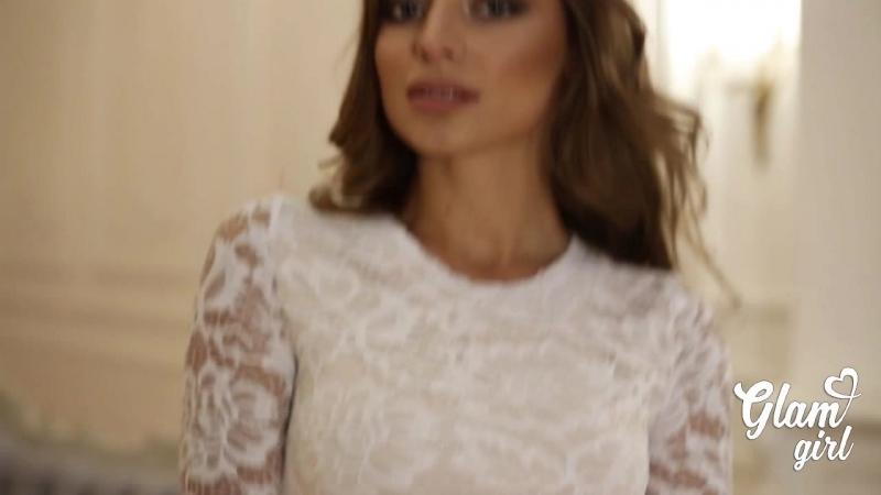Платье женственное в пол из гипюра