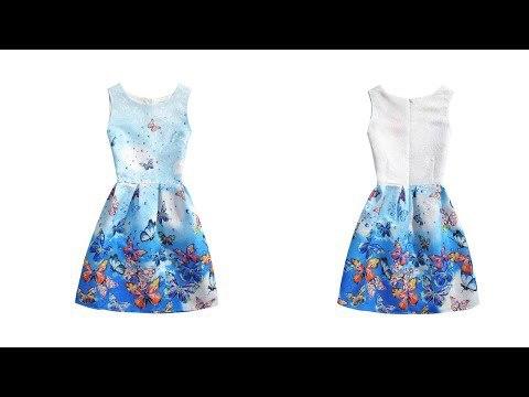 Одежда с Aliexpress-очаровательное платье для девочек 6-12 лет