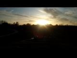 Наша далина. Весенний закат солнца. Шум, пение птиц и лягушек.