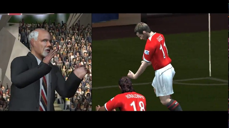 UEFA Champions League 2004—2005. Gameplay. PC. Olympic Lyon vs. Manchester United. HQ. High Quality.