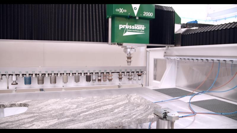 Prussiani Engineering Platino 2000 - обрабатывающий центр с ЧПУ для камня