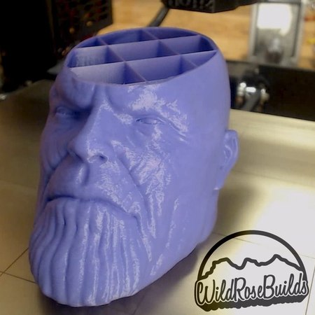 """Wild Rose Builds on Instagram """"Thanos! Printed in @amz3d mauve pla at .15mm on the @josefprusa mk3! Thing2746427"""""""