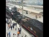 Ретро-поезд в Краснодаре..