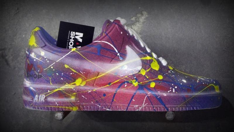 Роспись 51 кастомного кроссовка Nike air force для Mad Shop