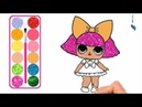 Cut Baby Girl Drawing and Coloring with Glitters Glitters Baby Girl coloring pages for kids