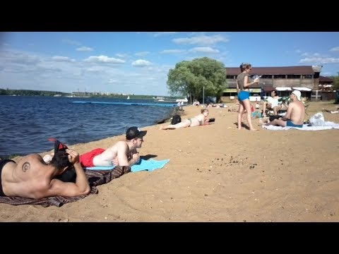 Пироговское водохранилище Пляж Спасатели Малибу Beach ビーチ Strand Plage الشاطئ Playa Praia 海滩 비치