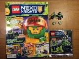 Обзор нового журнала Lego Nexo Knights #6 за 2018 год Злобот и Цифровая Пушка с Криттерами