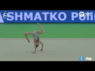 Полина Шматко булавы (финал) // Международный турнир юниорок Гвадалахара,Испания 2018