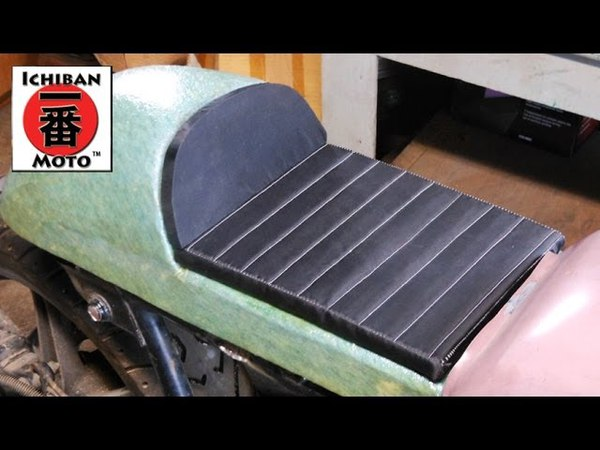 Ichiban Moto Cafe Racer Part 23: How to make a custom motorcycle seat pan upholstery cover