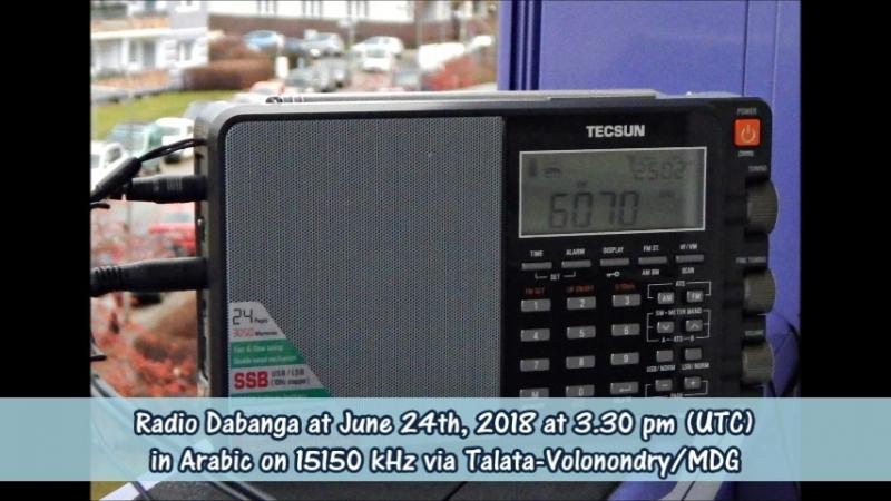 Radio Dabanga in Arabisch am 24 06 2018 um 15 30 Uhr UTC auf 15150 KHz via Talata Volonondry MDG