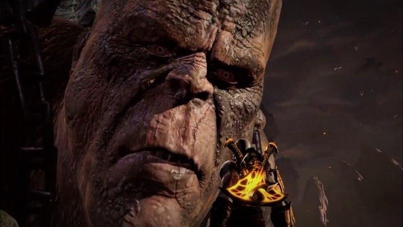 God of War 3 Кратос против Кроноса Крона