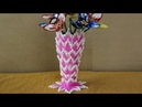 DIY Innovative Ideas Of Flower Vase | How to make flower vase using cotton buds - Craft ideas