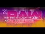 22.01.18 - RAW -Banks, Bayley, Asuka &amp James vs. Jax,