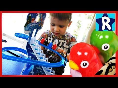 ★ Игра Гонки Пингвинов на Колесиках Распаковка Penguin Race Toys Playful Penguins unboxing