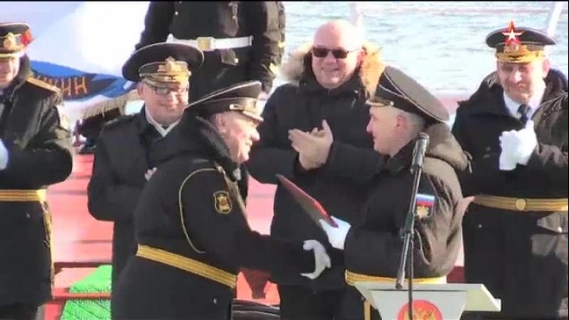 Экипаж крейсера «Петр Великий» отметил 20-летие корабля кадры торжеств