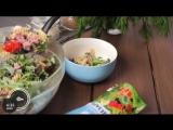 Итальянский салат из пасты с соусом Цезарь