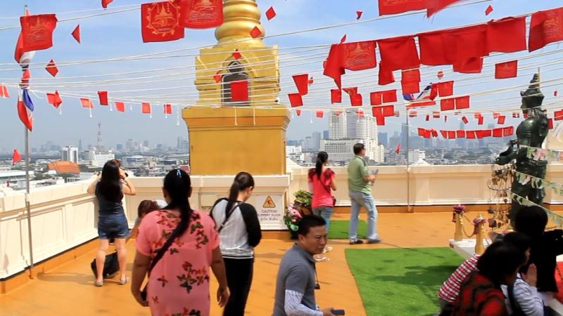 Тайланд Бангкок монастырь на золотой горе