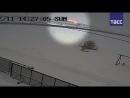 Момент падения Ан-148 в Подмосковье