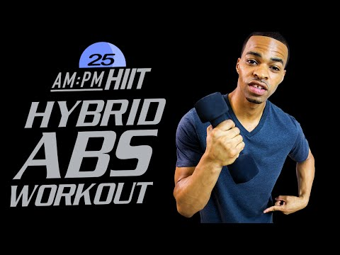 30 Min. Hybrid Dumbbell Abs Workout   Day 25: PM - AM/PM HIIT Series