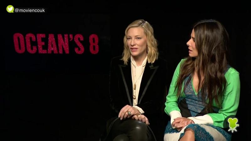 Интервью Сандры и Кейт Бланшетт в рамках промо фильма Восемь подруг Оушена