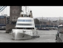 Luxury Couples £225million superyacht glides through Thames
