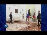 Путин и Президент FIFA сыграли в футбол