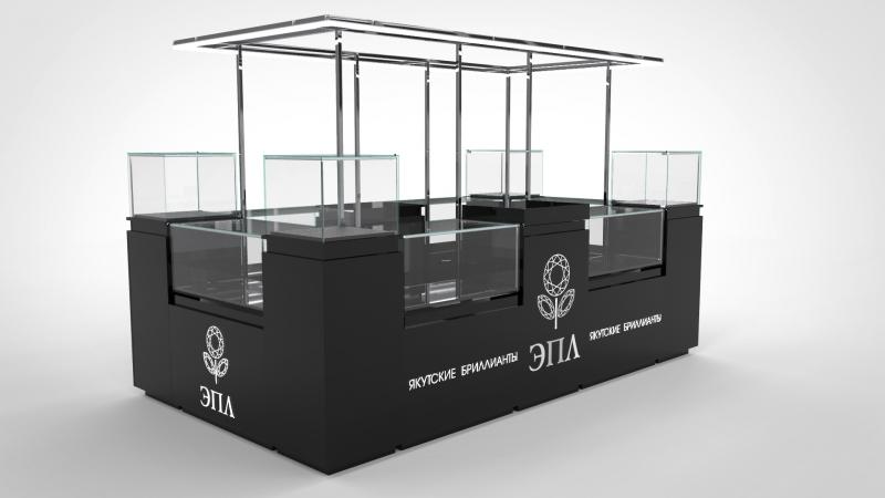 Проект и реализация торгового острова «ЭПЛ. Якутские бриллианты» от компании Ctot Factory