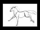 Как сделать анимацию бега лошади
