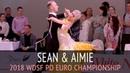 Sean Smullen Aimie Leak | Медленный вальс | 2018 WDSF PD Чемпионат Европы - Четвертьфинал