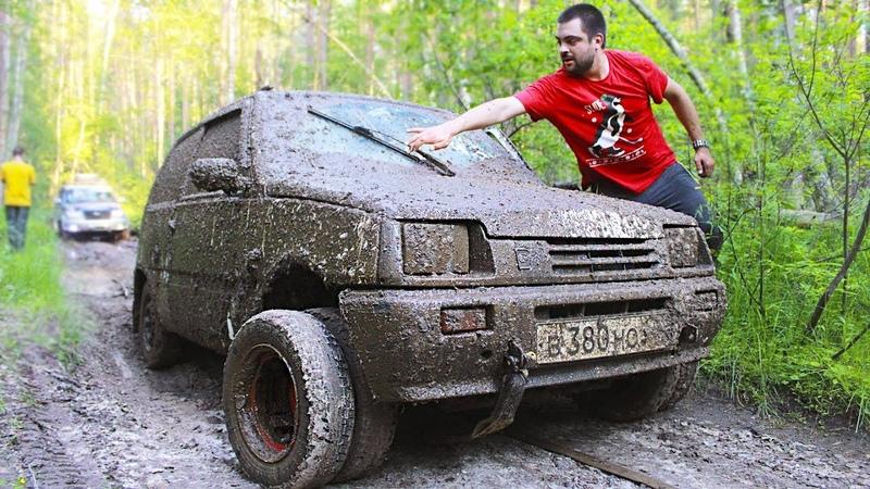 Колёса от грузовика на Оку. Жёсткое испытание грязью! Спарка Рулит!