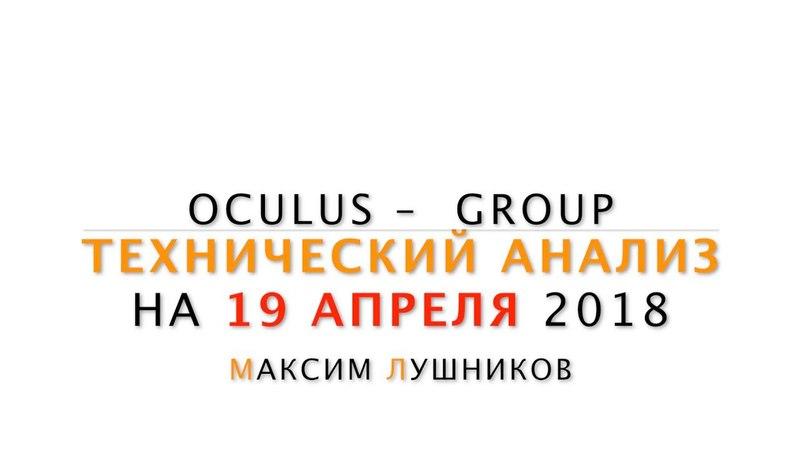 Технический обзор рынка Форекс на 19.04.2018 от Максима Лушникова | OCULUS - Group