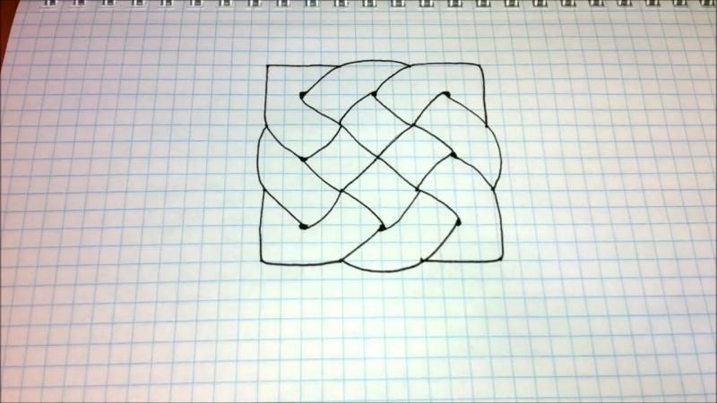 Простые рисунки 411 3д рисунок Кельтский узор mp4
